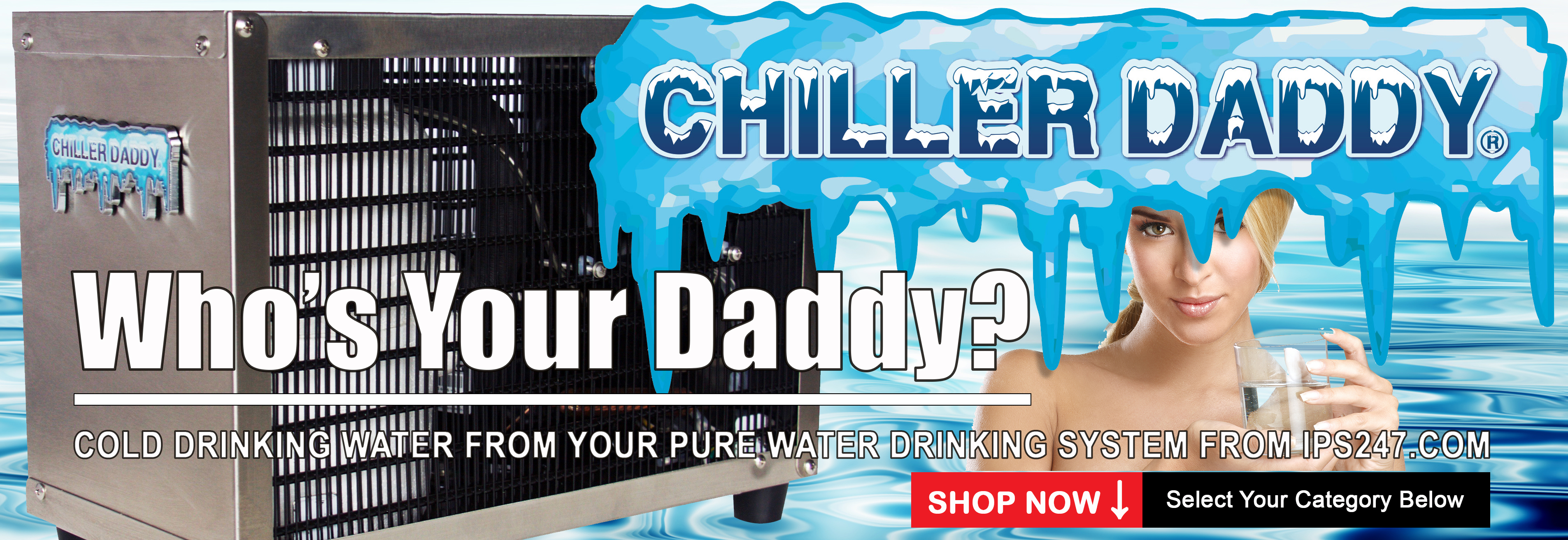 Chiller Daddy High Output, Heavy Duty Undersink Drinking Water Chiller for Home or Office