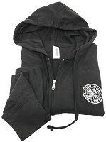 Full Zip Hoodie Black Large Unisex