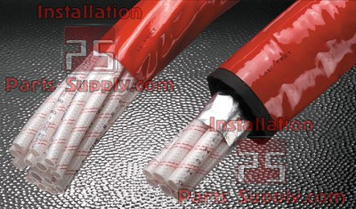 "12 Line x 200' .380"" x .500"" (14.0) Bev-Seal Ultra Cabled Barrier Bundle Red Jacket 975 Series"