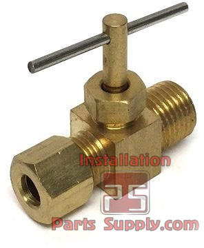 "1/4""x1/8"" Compression x MPT Needle Valve Straight 101CP-4A"