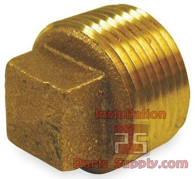 "3/4"" MPT Plug Square Head Cored Plug 