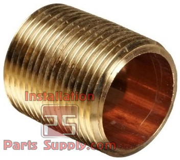 "3/8"" MPT Close Nipple Brass"