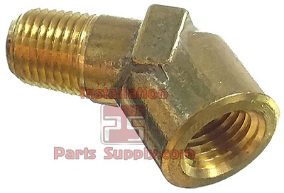 "1/4"" MPT x FPT 45° Street Elbow Forged Brass"