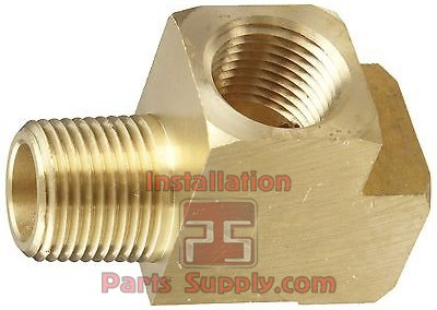 "1/4"" Street Tee FPTxMPTxFPT Extruded Bar Stock Brass"