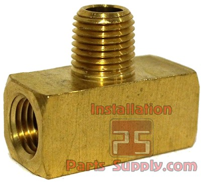 "1/4"" FPT x FPT x MPT Male Branch Tee Extruded Brass 130A-B"