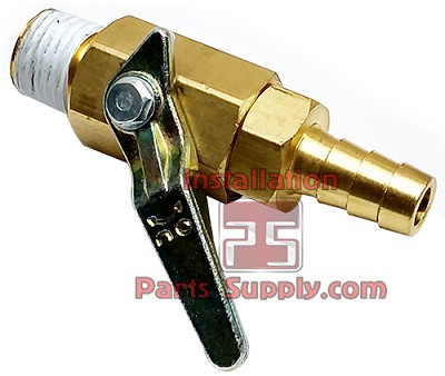 "Taprite 1/4"" MPT x 5/16"" Barb Shut-Off Valve w/ Internal Check Valve"