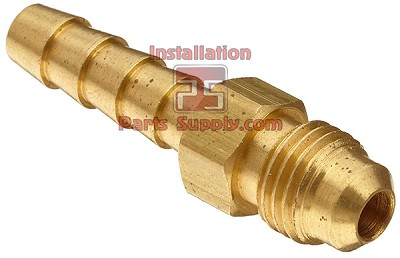 "1/4""x3/8"" Barb x Flare Connector Lead Free Brass"