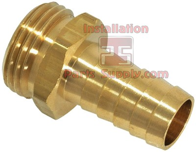 "3/4""x3/4"" Barb x Garden Hose Thread Brass"