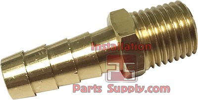 "1/8""x1/4"" Barb x MPT Connector Brass"