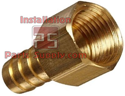 "3/4""x3/4"" Barb x FPT Straight Adapter Brass"