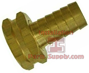 "3/8""x3/4"" Barb x Garden Hose Swivel Hex Brass"