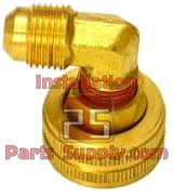 "3/4""x1/4"" Female GHT Swivel x Flare Elbow 90° LF Brass"