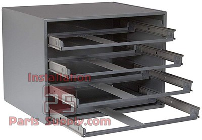 "Durham 4 Drawer Glide Rack for Metal Fitting  Compartment Boxes 20"" x 15-3/4"" x 15"""