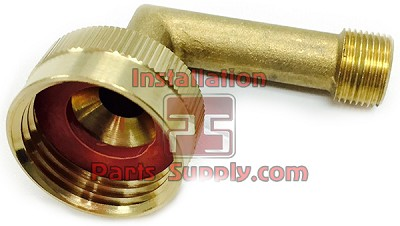 "3/4""x3/8"" Female Garden Hose x Compression 90° Elbow Adapter Brass"