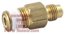 "1/4"" Flare x MPT w/ Check Valve Standard Outlet Fitting for Secondary CO2 Reg"