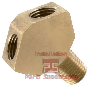 "1/4"" MPT x 1/4"" FPT x 1/4"" FPT WYE Fitting CO2 Splitter Brass Taprite 5460"