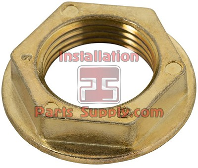 "Flanged Lock Nut for Beer Shanks Brass, 1-3/16"" Hex, 29/32-14 Thread"