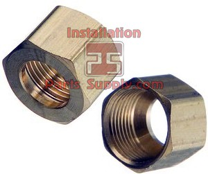 "3/4"" Compression Nut Brass"