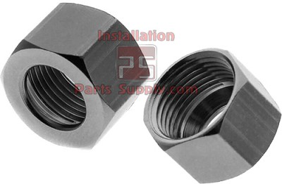 "1/4"" Compression Nut Brass-Chrome Plated"