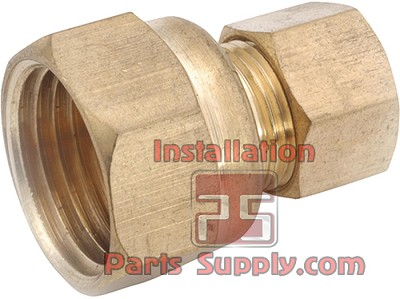 "3/8""x1/4"" Compression x FPT Adapter Brass"