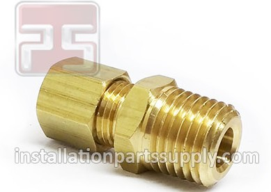 "7/16""x3/8"" Compression x MPT Connector Brass 68A-7C"
