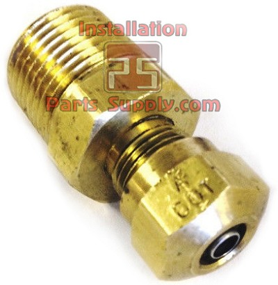 "1/4""x3/8"" Compression x MPT Connector Brass DOT Nylon Air Brake w/ SS Tube Support"