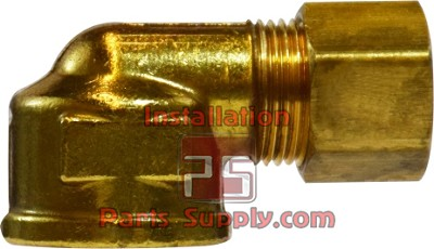 "3/8""x1/2"" Compression x FPT 90° Elbow Forged Brass Adapter"