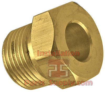 N2 Regulator Tank Nut, CGA580, Male Threads Brass