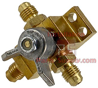 "Co2 Changeover Valve Assembly w/ 1/4"" Male Flare 