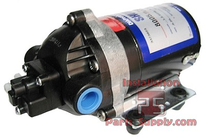 "230vac, 1.2gpm, 50psi Demand Switch w/45psi internal bypass,3/8""FPT, Non-Corded Shurflo 8005-791-255"
