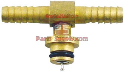 "1/4"" (6mm) Barb Brass Tee w/ Check CO2 Fitting (84-078-11)"