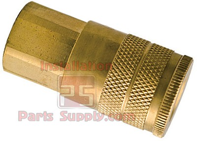"1/4"" FPT Brass Quick Coupler Socket  w/ Check Valve B-2CF2-B"