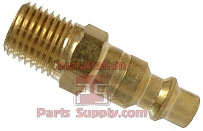 "1/4"" MPT Brass Quick Connect Nipple/Plug B-B2M2-B"