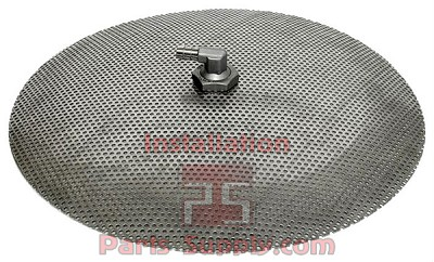 "10"" Domed False Bottom, 3/8"" Barb All SS"