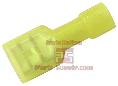 12-10 AWG Fully Insulated Female .250 Spade Connectors - Yellow