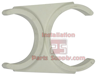 "2"" x 2-1/2"" Inline Filter & Membrane Double Clip-White"