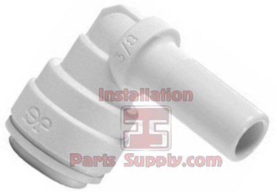 "3/8""x1/4"" John Guest Plug In Stem 90° Elbow Tube x Stem Polypropylene 