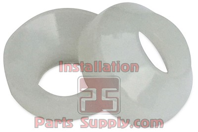 "1/4"" Flare Gaskets aka Fish-eyes White Nylon"