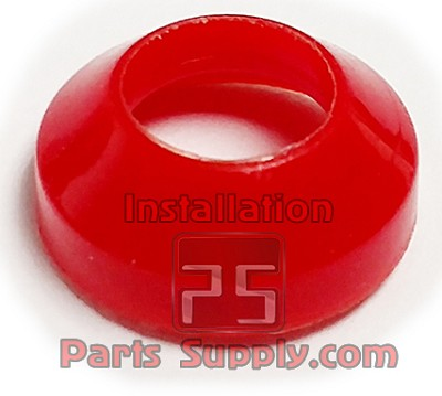 "5/16"" Flare Gaskets Nylon Fish Eyes Red"