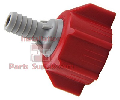 "Red Bag-In-Box Connector, 3/8"" Barb, Coke"