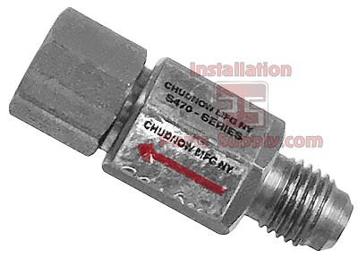 "1/4""x1/4"" Flare(In) x Fe Flare(Out) Check Valve SS"