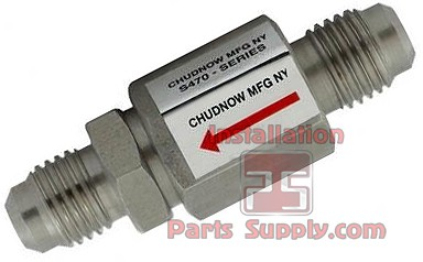 "1/8""x1/8"" FPT x MPT Check Valve Stainless Steel Chudnow S470 ASSE 1032"