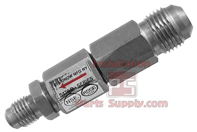 "3/8""x1/4"" Flare x Flare Double Check Valve Stainless Steel ASSE 1032"