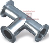 "3.0"" Clamp Short Tee 304SS Sanitary Fittings"