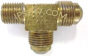"3/8""x3/8""x3/8"" Flare x Flare x MPT Male Run Tee Extruded Brass"