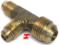 "1/4""x3/8""x1/4"" Flare Tee Reducing Forged Brass"