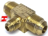 "3/8""x3/8""x1/4"" Flare Tee Reducing Forged Brass"