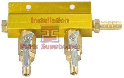 2way Alum Air Dist.3/8bx5/16b Valve-NO Safety