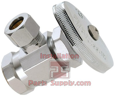 "1/2"" FIP x 3/8"" Compression Angle Stop Valve Chrome"