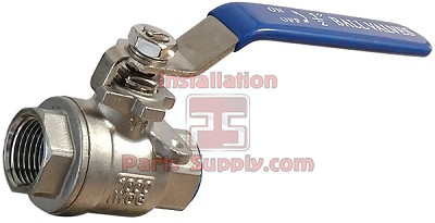 "1/2"" FPT Ball Valve 2-Piece Full Port 304 SS"
